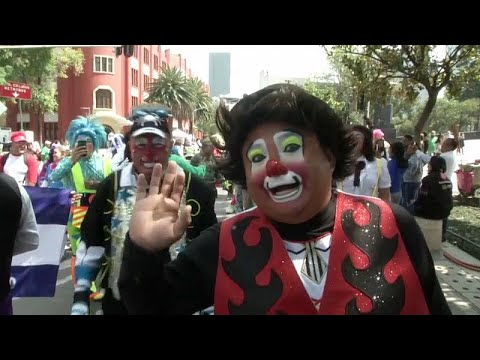 Watch: Clowning Around In Mexico City