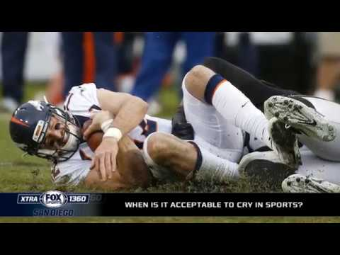 When is it acceptable to cry in sports?