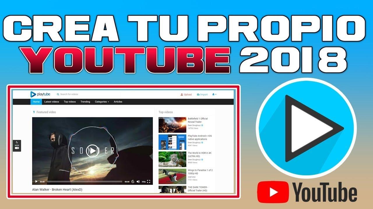 Como crear un sitio web igual a YouTube | Pagina Web de vídeos| 2018 ✅