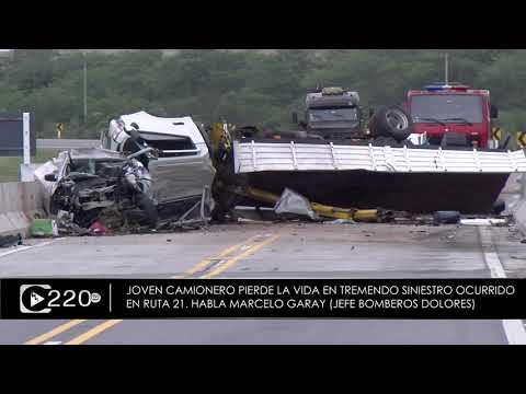 Tremendo siniestro fatal en ruta entre Mercedes y Dolores