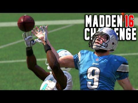 Can Matthew Stafford Catch A One Handed Interception? - Madden 16 NFL Challenge