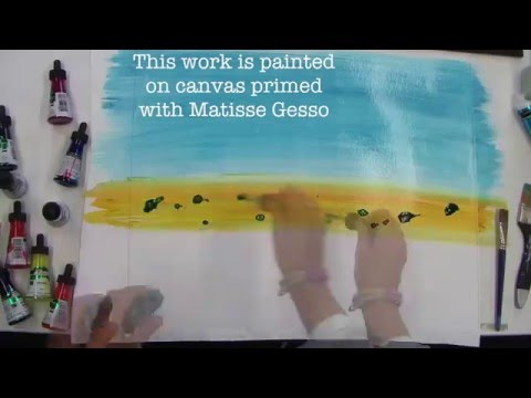 Demonstration: Matisse Inks – Landscape
