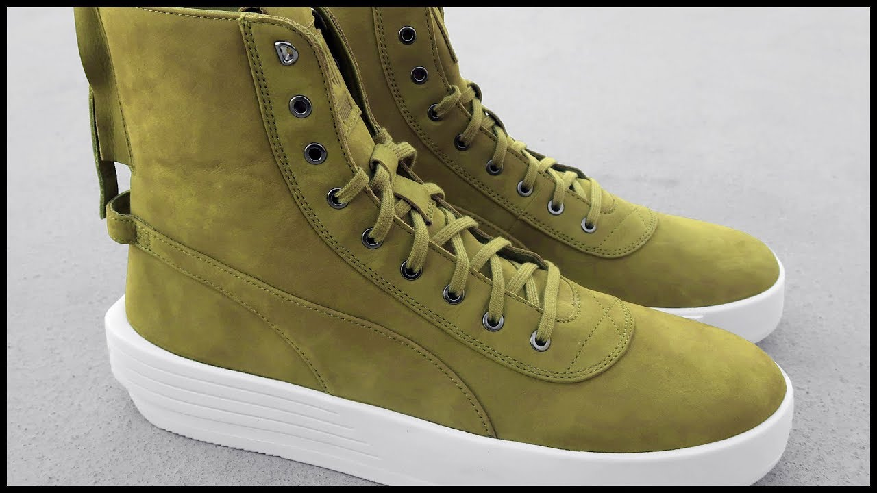 709764ffb8d041 PUMA x The Weeknd XO Parallel OLIVE GREEN 🍃 Sneaker Boot Unboxing ...