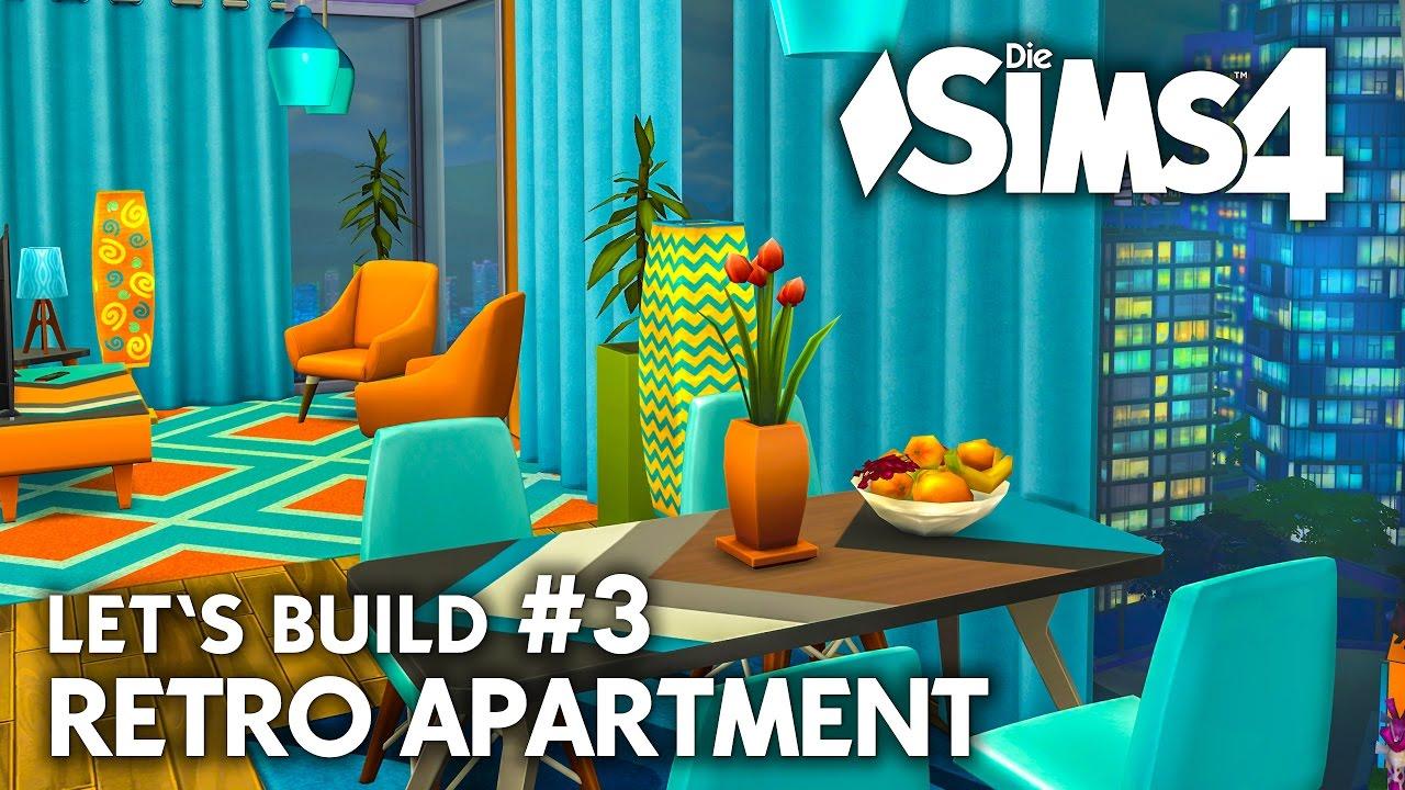 Retro Apartment #3   Die Sims 4 Großstadtleben Haus Bauen U0026 Einrichten    Letu0027s Build (deutsch)