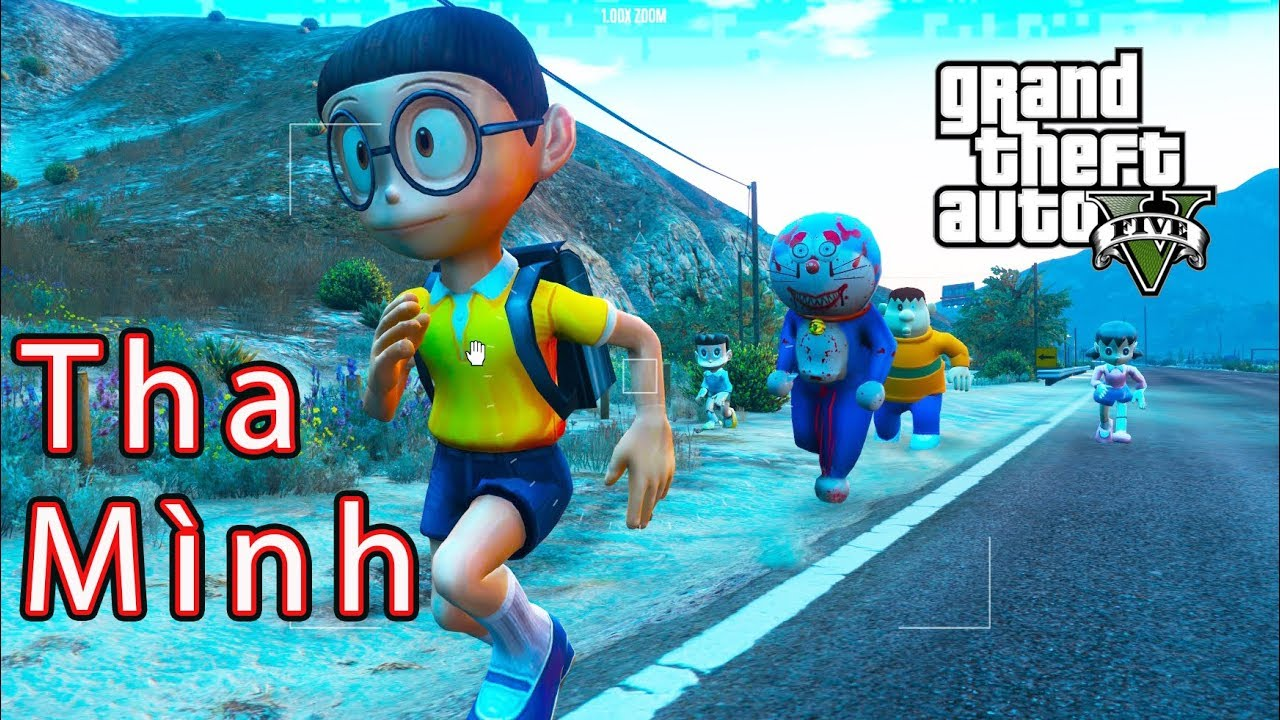 GTA 5 Mod – Nobita Chaien Xeko Xuka Đi Tìm Doremon The Killer #2