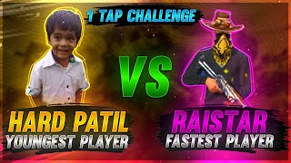 Patil Vs Raistar 9 Years Boy | 1 TAP CHALLENGE  | Garena Free Fire