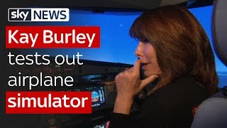 Kay Burley interviews Captain Sully and tests out airplane simulator