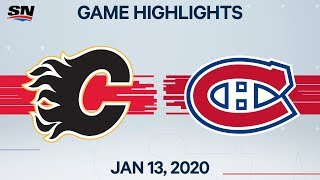 NHL Highlights Flames Vs Canadiens Jan 13 2020