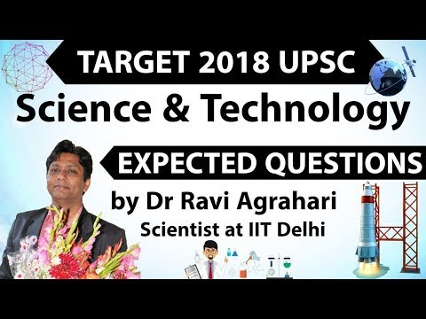 Target 2018 UPSC - Science & Technology Current Affairs - Expected Questions SET 1