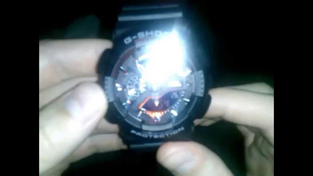 Casio G Shock Ga 110 How Turn On And Off Auto Light Youtube Jam Tangan Pria Sporty 400 1bdr Original