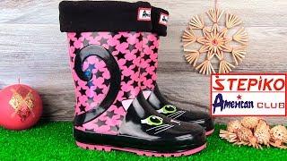 Детские резиновые сапоги American club 328/18-1 (фуксия). Видео обзор от STEPIKO