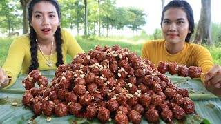 Cooking meatball crispy with tomato and peanut recipe - Cooking skill