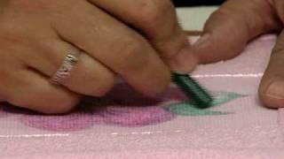 Pintura giz de cera em tecido Vera Lucia