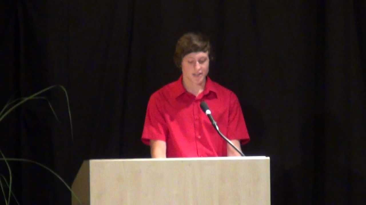Rede vom Schülersprecher 2012 - YouTube