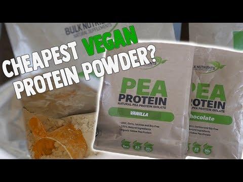 bulk-nutrients-chocolate-&-vanilla-pea-protein-review