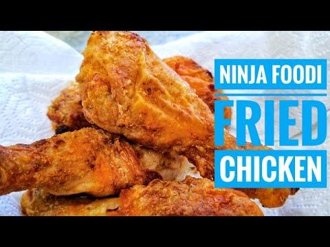 Ninja Foodi Air Fried Chicken Breaded Vs Naked Youtube