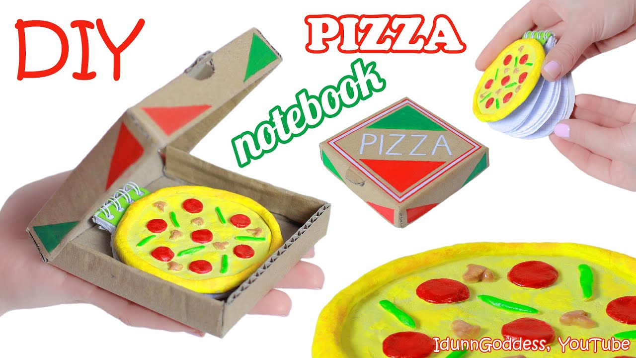 How To Make Pizza Notebook Diy Miniature Pizza Notepad