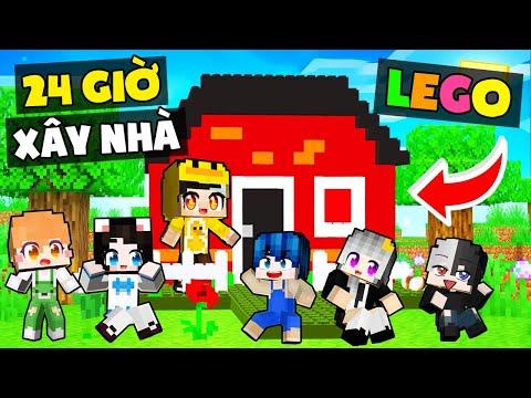 Thử thách TẤT CẢ Hero Team xây và sống trong ngôi nhà Lego ! MrVit xây nhà Minecraft bằng xếp hình