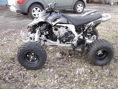 2008 Kawasaki KFX450R Walk Around & Start Up! - YouTube