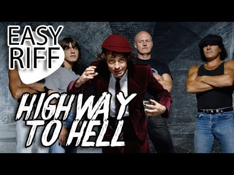 ac dc highway to hell easy riff guitar lesson youtube. Black Bedroom Furniture Sets. Home Design Ideas