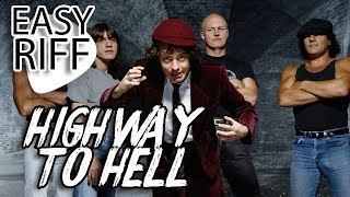 AC/DC - Highway To Hell - Easy Riff - Guitar Lesson
