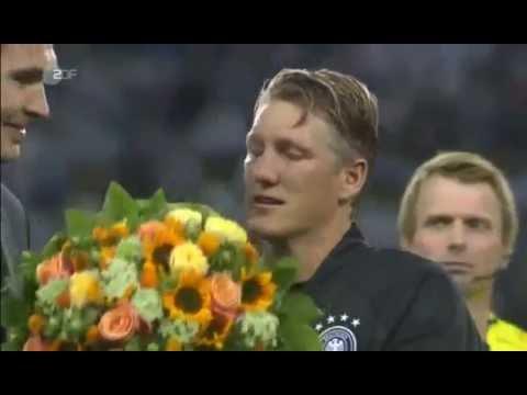 Bastian Schweinsteiger Last Match   Germany VS Finland