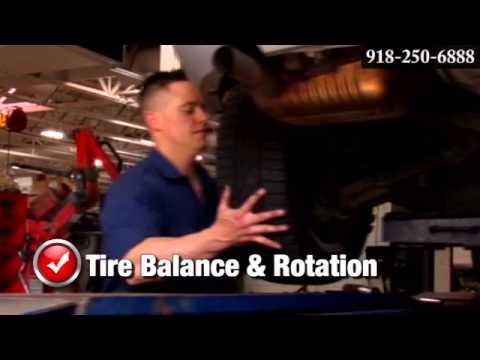 Toyota Wheel Tire Rotation Balance Tire Balancing Service Tulsa Broken Arrow OK