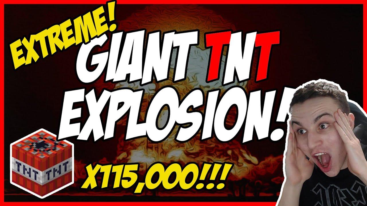 MASSIVE 115,000 TNT EXPLOSION IN HARDCORE! (World Record!)