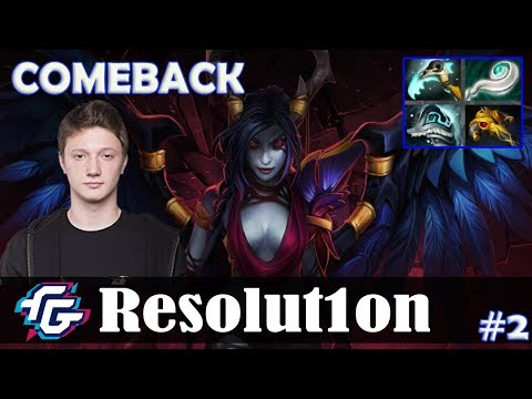 Resolution - Queen of Pain MID   COMEBACK   Dota 2 Pro MMR Gameplay #2