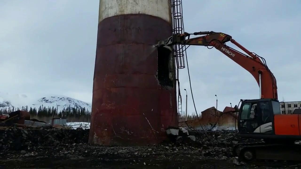 Демонтаж трубы 80 метров, Кировск