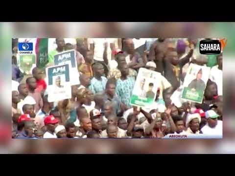Tinubu Flings APC Flag Away At Presidential Campaign Rally In Ogun thumbnail