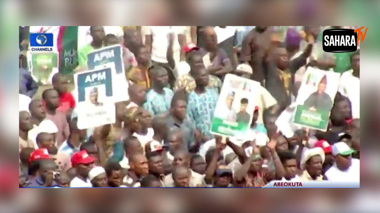 Tinubu Flings APC Flag Away At Presidential Campaign Rally In Ogun