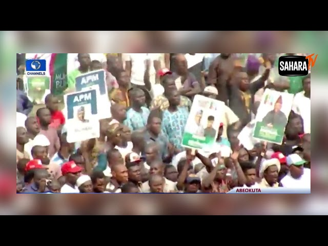 Tinubu Flings APC Flag Away At Presidential Campaign Rally In Ogun