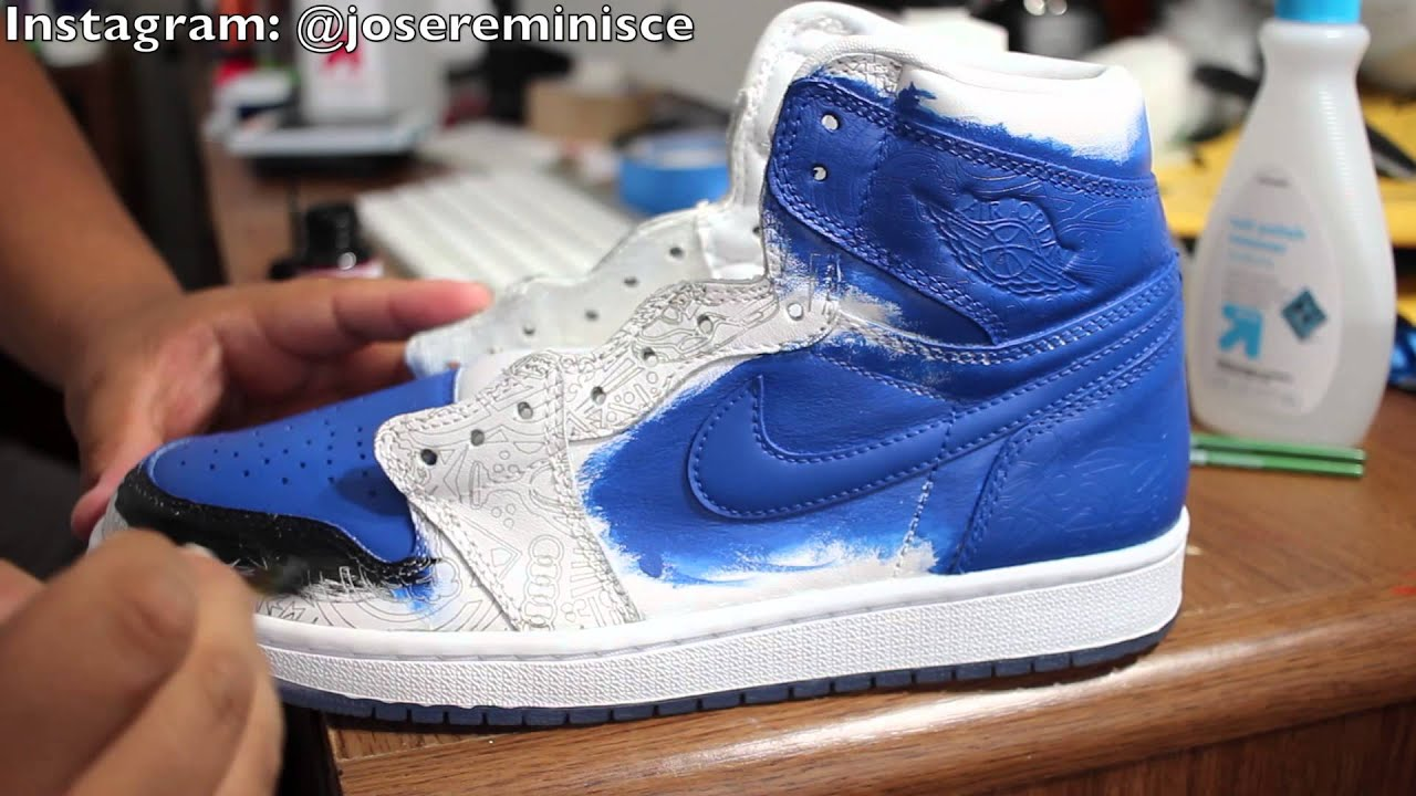 air jordan 1 retro laser closer look youtube