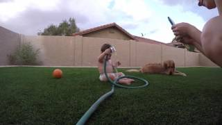 Fun with the water hose