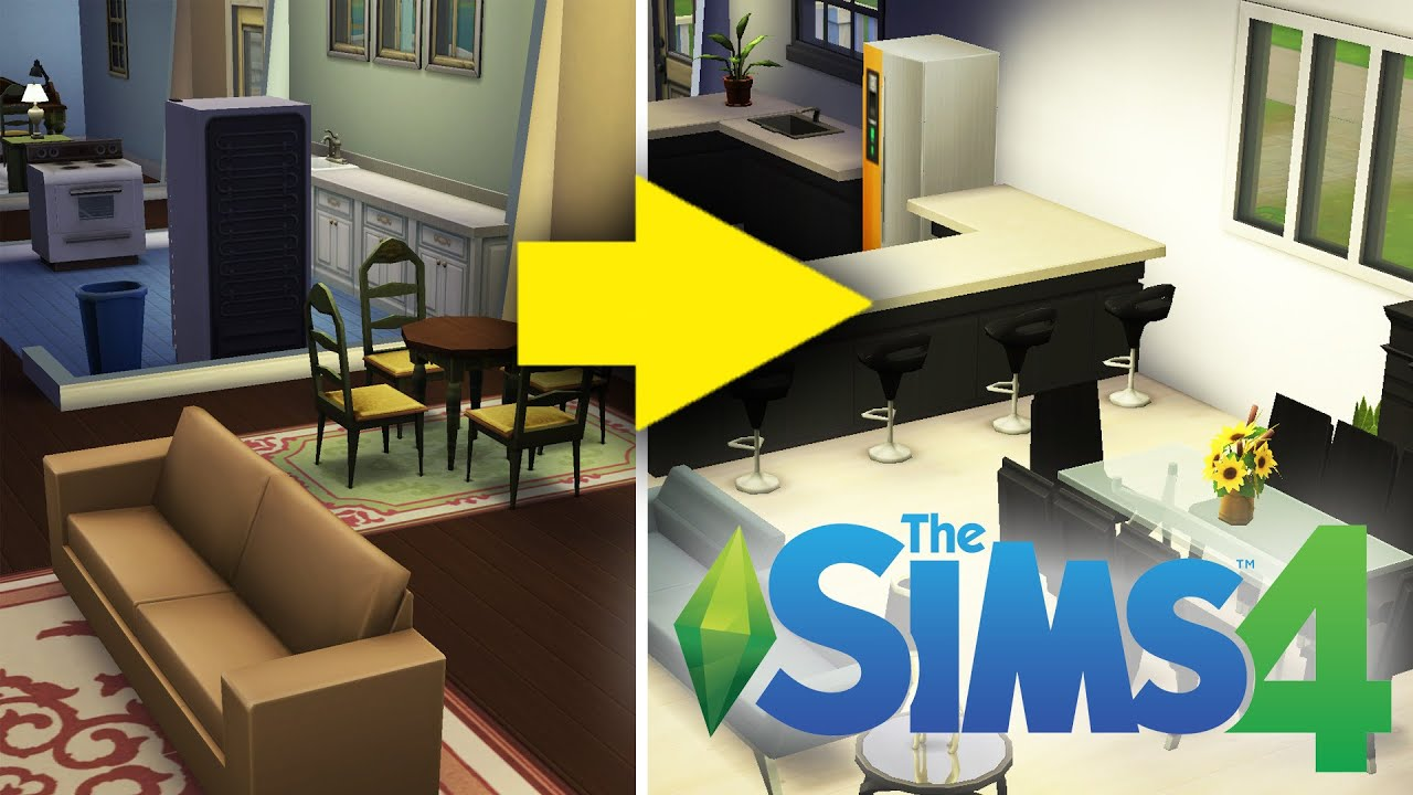 An Interior Designer Designs A Home In The Sims 4 Youtube