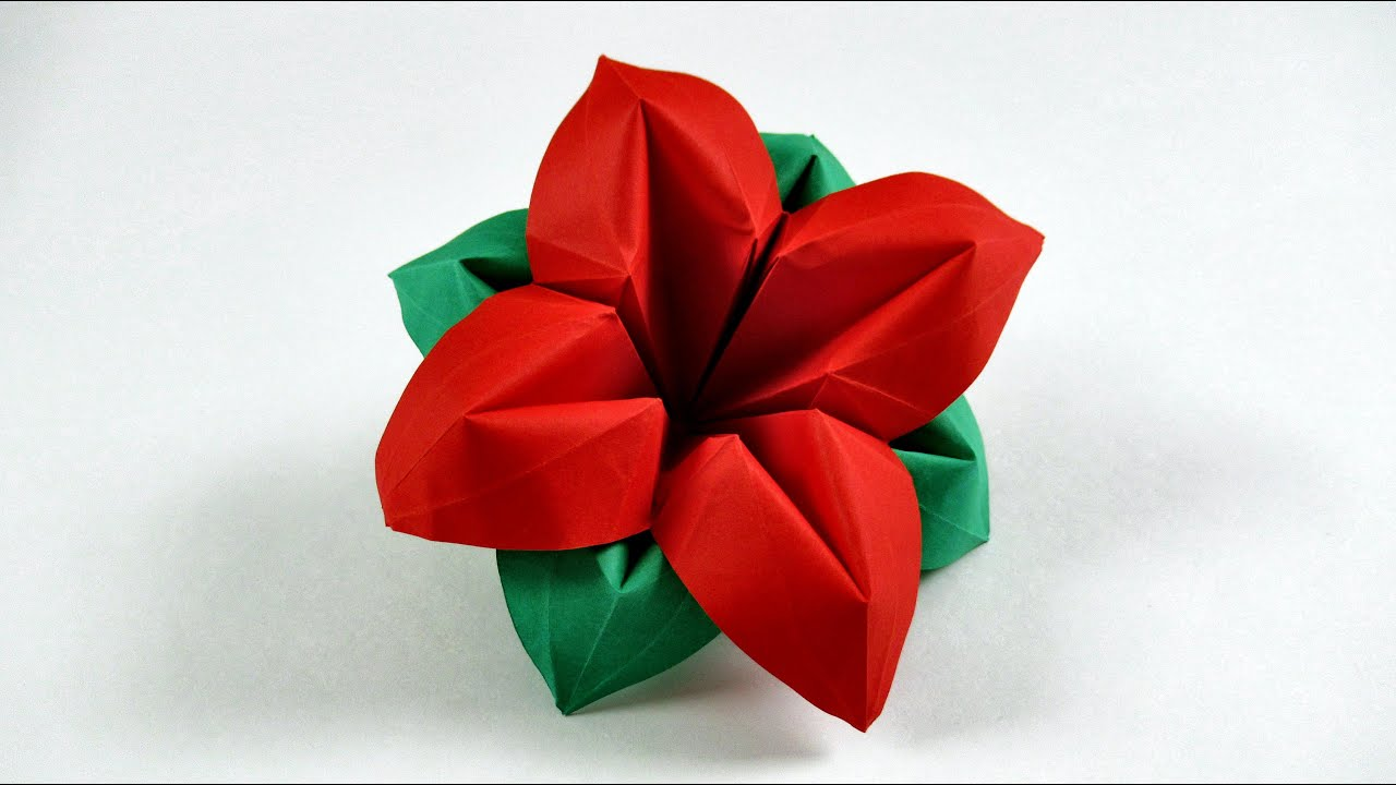 How to make a paper flower easy origami flowers
