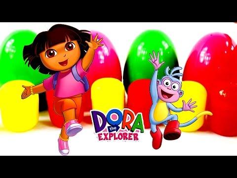 ✿ Мультик Даша Путешественница Коллекция игрушек Киндер сюрприз (Дора)