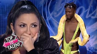 TOP 10 BEST And WORST UNUSUAL Auditions On Got Talent, X Factor And Idols!