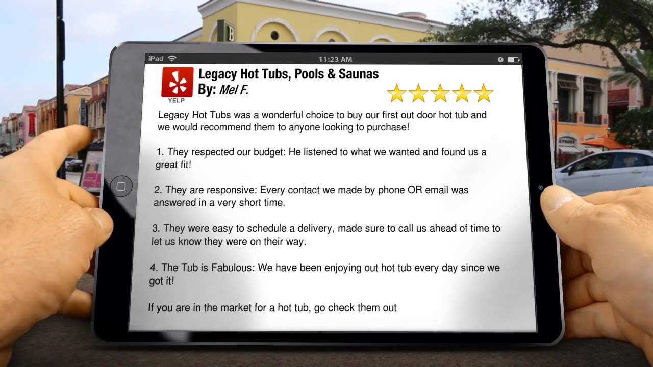 Legacy Hot Tubs Reviews, 5 Star Ratings - YouTube