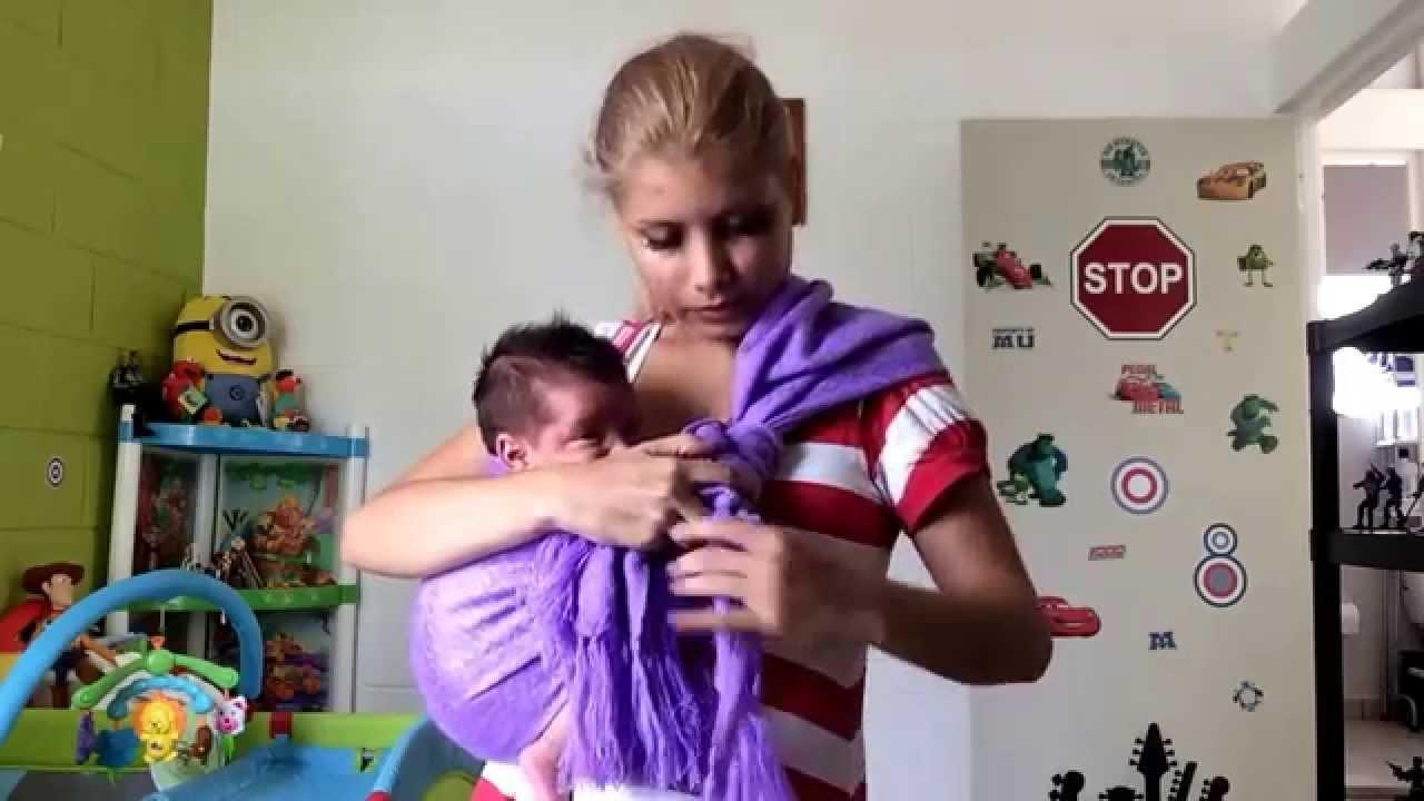 Como poner un rebozo mexicano para cargar bebe youtube - Como banar a un bebe ...