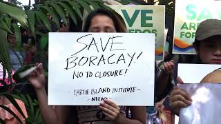 Environmentalists protest impending 6-month closure of Boracay
