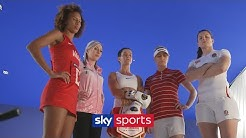 Behind the scenes with the BIGGEST sports stars at the Sky Sports' Rise with Us Campaign