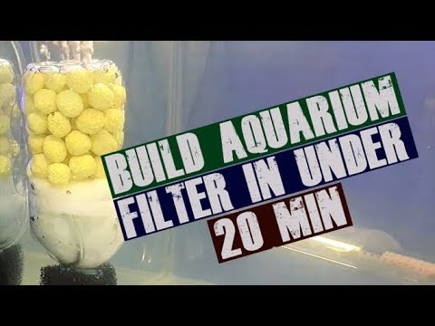 How To: Build DIY Aquarium Internal Filter ( In Under 20 min) - Cheap and Efficient