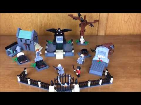 Lego Harry Potter Graveyard Duel Speed Build Youtube