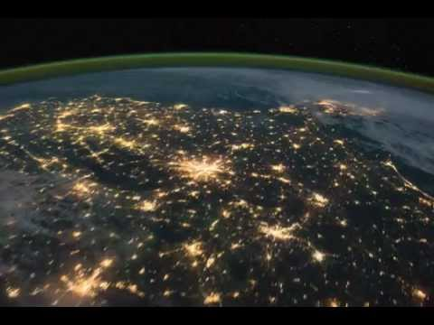 Pass over Canada and Central United States at Night