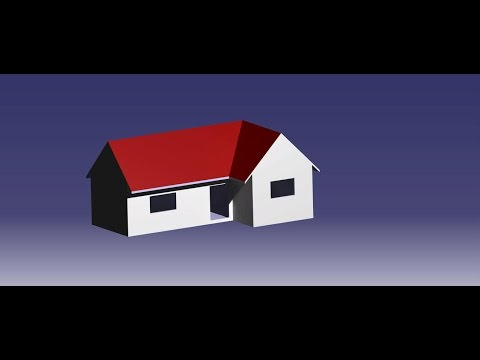 CATIA V5 | How to make a simple house?