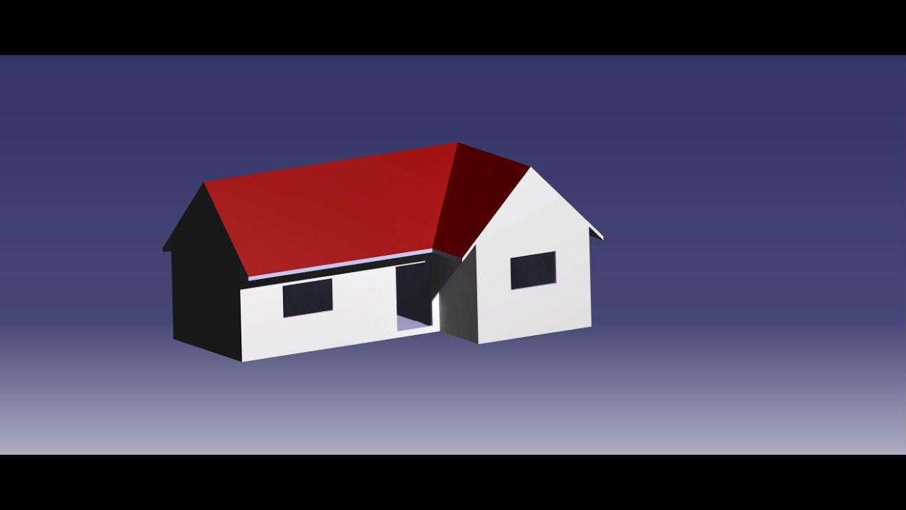 CATIA V5 | How to make a simple house? - YouTube
