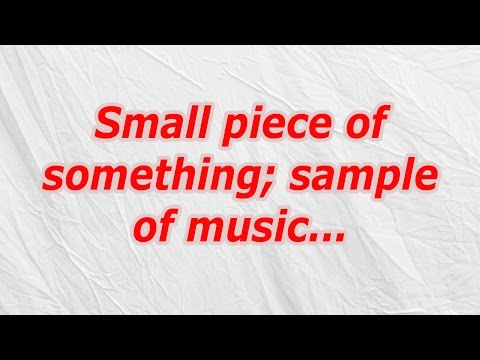 Small piece of something; sample of music (CodyCross Crossword Answer)