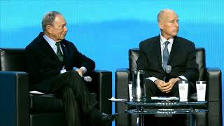 Michael Bloomberg and Former Governor Jerry Brown
